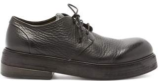 Marsèll - Zuccolono Raised Sole Grained Leather Derby Shoes - Mens - Black