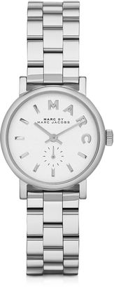 Marc by Marc Jacobs Baker 28 MM Silver Tone Stainless Steel Women's Watch $195 thestylecure.com