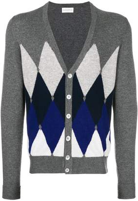 Ballantyne diamond patterned cardigan