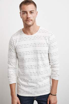 Velvet by Graham & Spencer LANG HACCI STRIPE LONG SLEEVE TEE