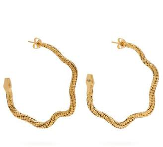 Aurelie Bidermann Tao Snake Hoop Earrings - Womens - Gold