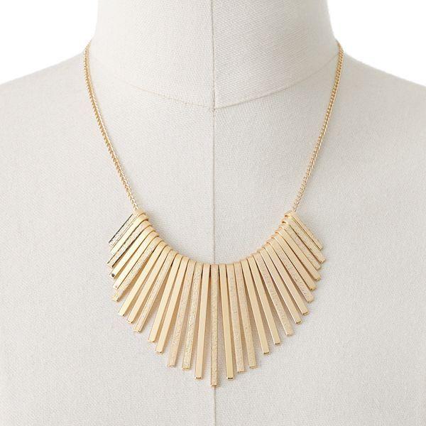 Apt. 9 textured bib necklace
