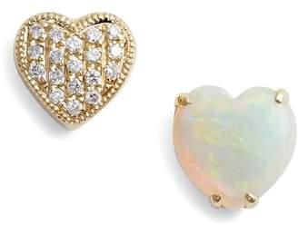Dana Rebecca Designs Diamond & Semiprecious Stone Stud Earrings