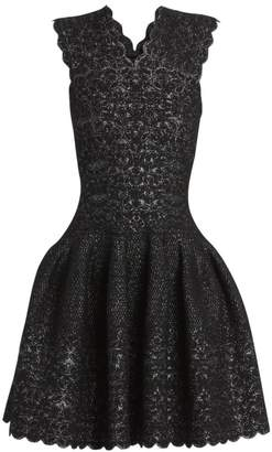 Alaia Patio Lurex Sleeveless Fit-&-Flare Dress