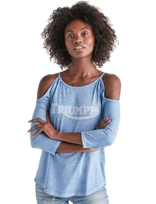 Lucky Brand Women's - Cold Shoulder Triumph Motorcycle Tee