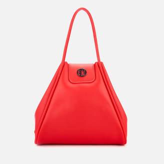 Armani Exchange Women s Medium Shopper Tote Bag with Logo Flap 0a8e39b2adb3a