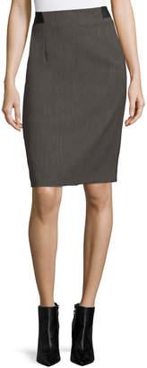 Tahari ASL Textured Twill Slim Pencil Skirt