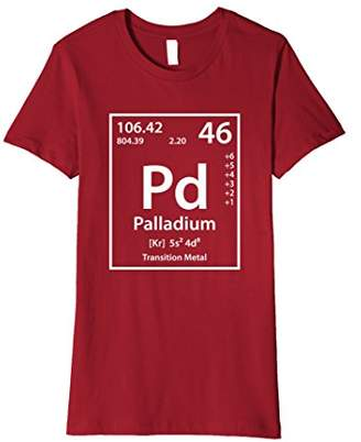 Palladium Periodic Table of Elements T-Shirt