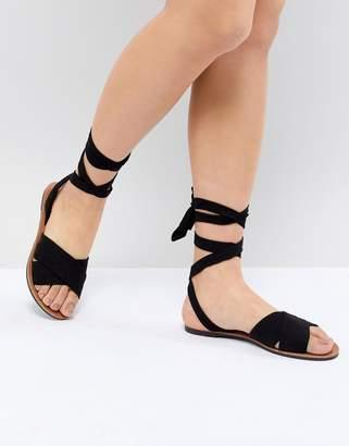 Park Lane Tie Leg Flat Sandals
