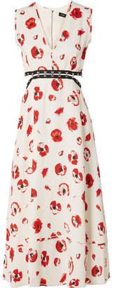 Proenza Schouler Cutout Floral-print Crepe Midi Dress - Off-white