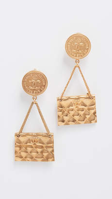 Chanel What Goes Around Comes Around Flapbag Earrings