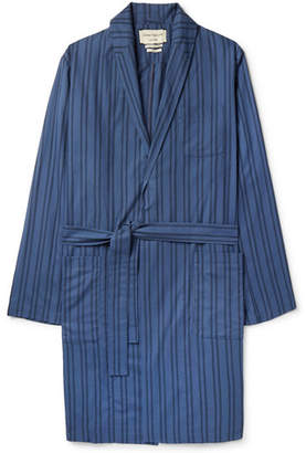 Oliver Spencer Loungewear Medway Striped Organic Cotton Robe