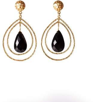 Christina Greene - Teardrop Earrings in Black Onyx
