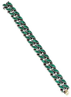 David Yurman Malachite Curb Link Bracelet