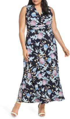 Vince Camuto Poetic Blooms Sleeveless Maxi Dress