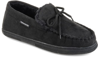 Thomas Laboratories AND VINE Orion Moccasin Slipper with Faux Fur