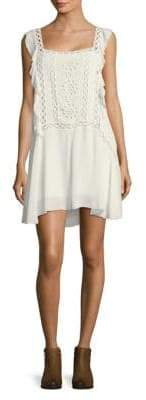 Free People Eyelet Ruffle-Trim Dress