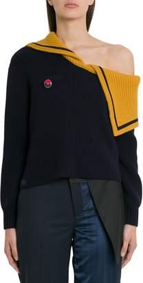Monse Sailor Off-shoulder Wool Sweater
