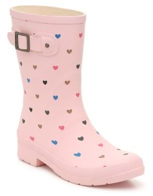 Chooka Eastlake Hearts Mid Rain Boot
