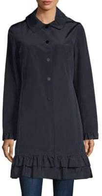 Jane Post Classic Ruffled Coat