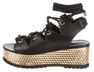 Kat Maconie Metallic Flatform Sandals
