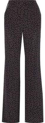 Nicholas Ditsy Rose Floral-print Silk Wide-leg Pants
