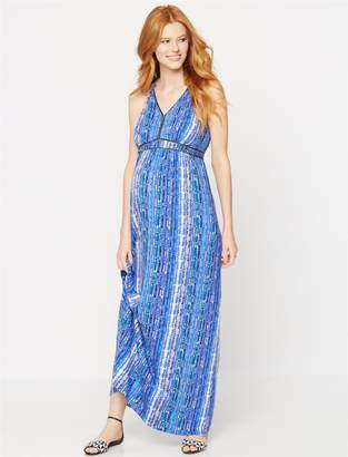 Ella Moss Pea Collection Braided Strap Maternity Maxi Dress