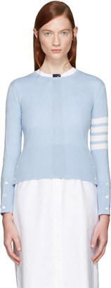 Thom Browne Blue Classic Crewneck Short Pullover $1,390 thestylecure.com