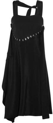 3.1 Phillip Lim - Embellished Silk And Wool-blend Dress - Black $750 thestylecure.com