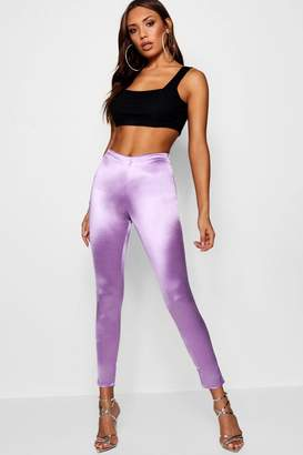 boohoo High Shine Side Zip Disco Pants
