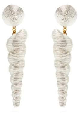 Rebecca de ravenel Rebecca De Ravenel - Twisty Drop Earrings - Womens - Silver
