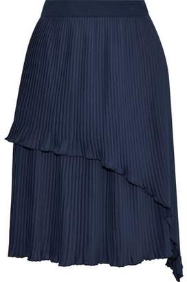 Walter W118 By Baker Flame Layered Plissé-Crepe Skirt