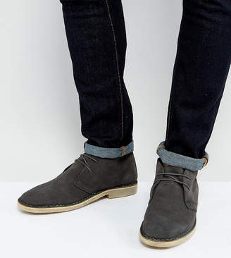 Asos DESIGN Wide Fit desert boots in gray suede