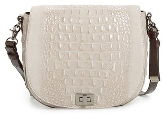 Brahmin 'Wilmington Sonny' Nubuck Leather Crossbody Bag $315 thestylecure.com
