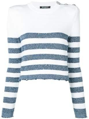 Balmain striped sweater