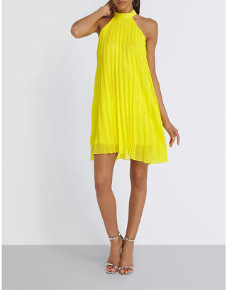 Missguided High-neck chiffon dress