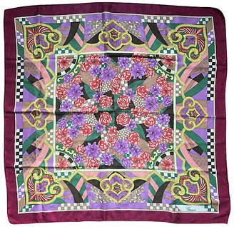 One Kings Lane Vintage Italian Gucci Jacquard Silk Print Scarf - Antiques on Jackson