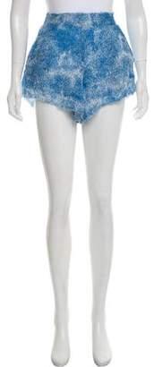 LoveShackFancy Printed Silk Shorts