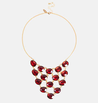 Avenue Faceted Red Stone Bib Necklace