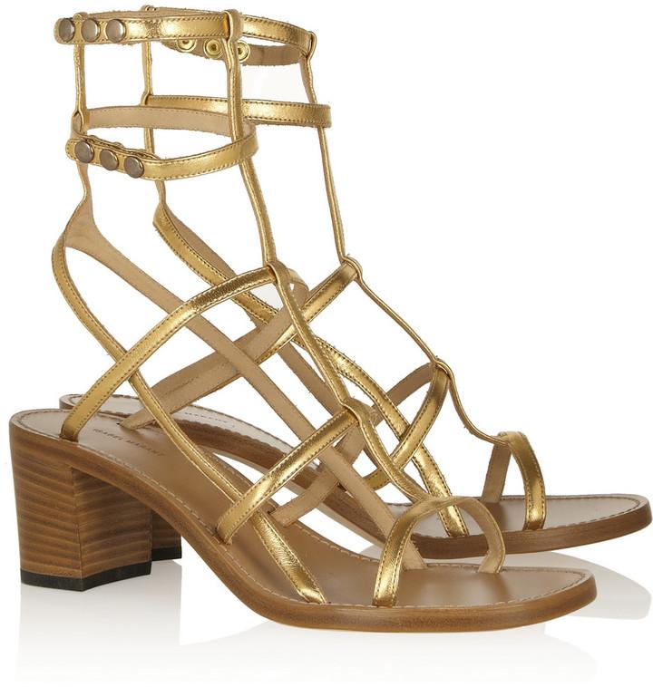 Isabel Marant Opale metallic leather sandals