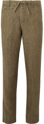 Man 1924 Army-Green Tomi Slim-Fit Tapered Linen Drawstring Suit Trousers