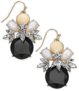 INC International Concepts I.N.C. Gold-Tone Crystal & Stone Cluster Drop Earrings, Created for Macy's