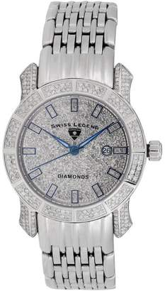 Swiss Legend SL-23024F Stainless Steel & Diamond Quartz Marquise Collection 34mm Womens Watch