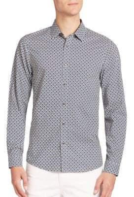 Michael Kors Kelvin Geometric Print Shirt