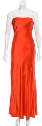 Randi Rahm Silk Strapless Dress