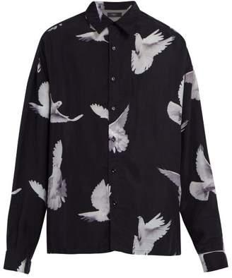 Amiri Dove Print Shirt - Mens - Black