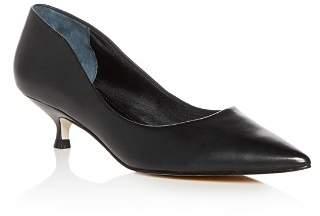 Marc Fisher Women's Xanthe Leather Kitten Heel Pumps
