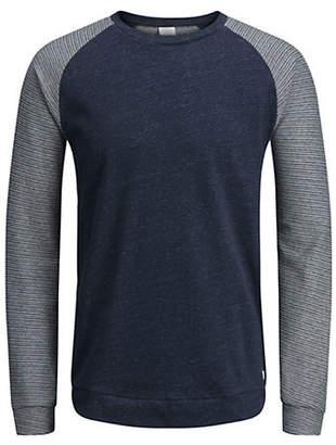 Jack and Jones Striped Cotton Sweatshirt