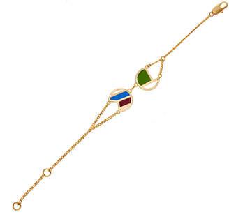 Colette Malouf Gold Ibiza Twin Bracelet