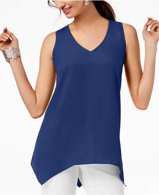 INC International Concepts I.n.c. Petite Handkerchief-Hem Top